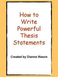 IB English A: Language & Literature: Thesis statements